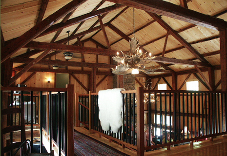 Antique and Freshly Cut Custom Timber Frames